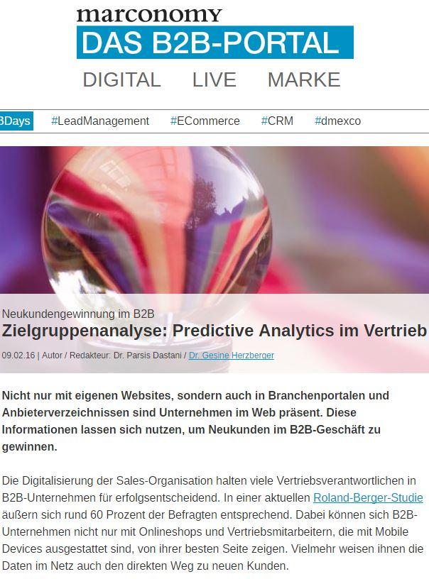 Neukundengewinnung im B2B Article Screenshot