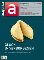 Acquisa Ausgabe 11/12-2016 Zeitschrift Cover