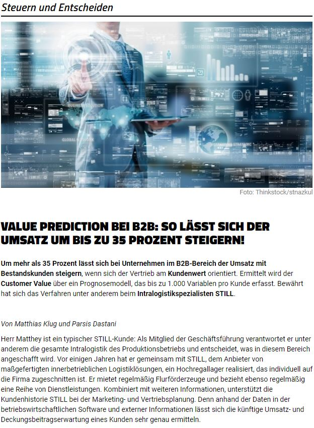 Value Prediction Article Screenshot