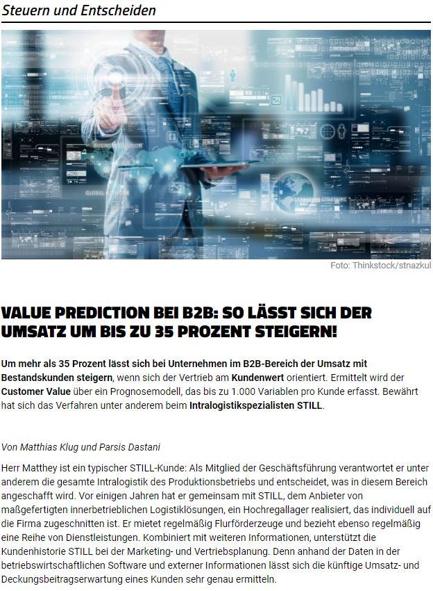 Value Prediction Article Screenshot