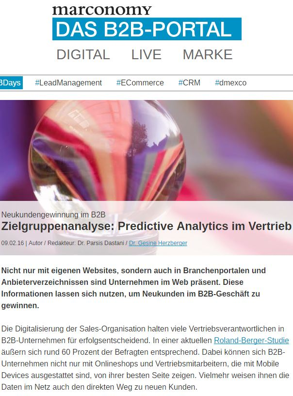 Neukundengewinnung im B2B Article Screenshot