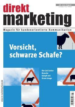 Direkt Marketing 8-2007 Zeitschrift Cover