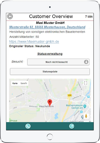 Sales App Screenshot | Leadgenerierung
